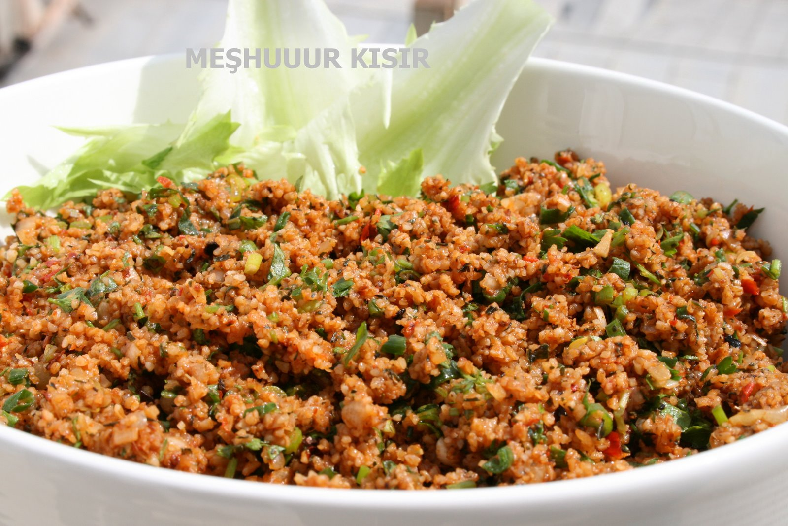 Kisir bulgur my most favorite recipe among turkish - Cuisine r evolution recipes ...